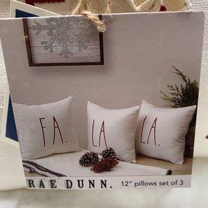 Rae Dunn fa la la pillows